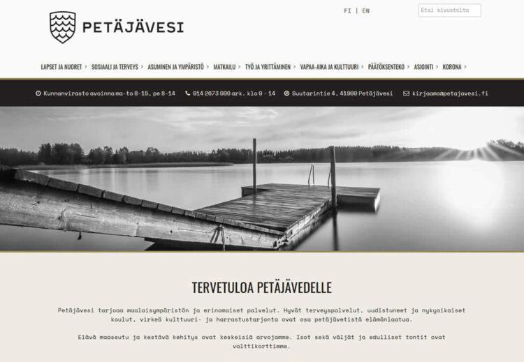 Petäjäveden kunta uudisti verkkosivunsa