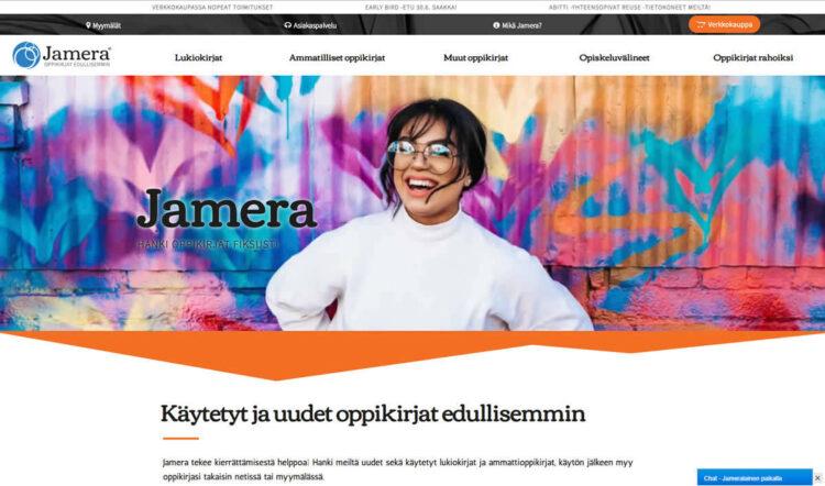 Jameralle uudet verkkosivut