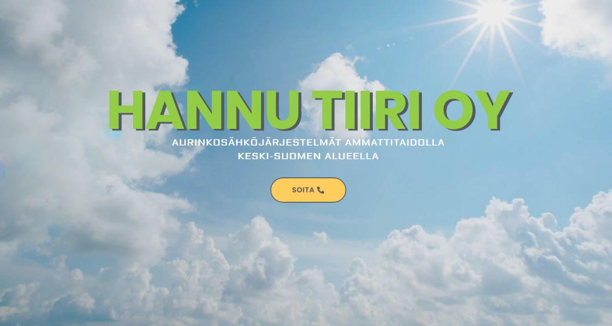 Hannu Tiiri Oy -verkkosivut