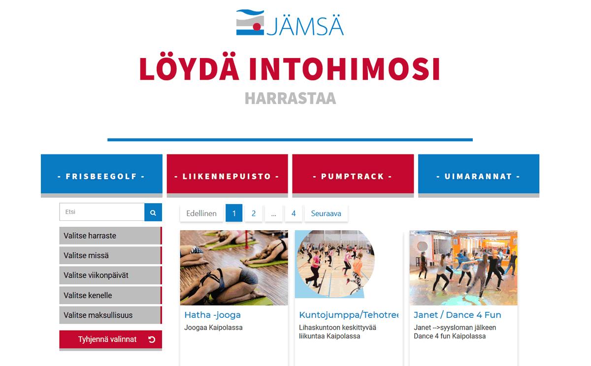 Harrastevalikko Jämsän kaupungille