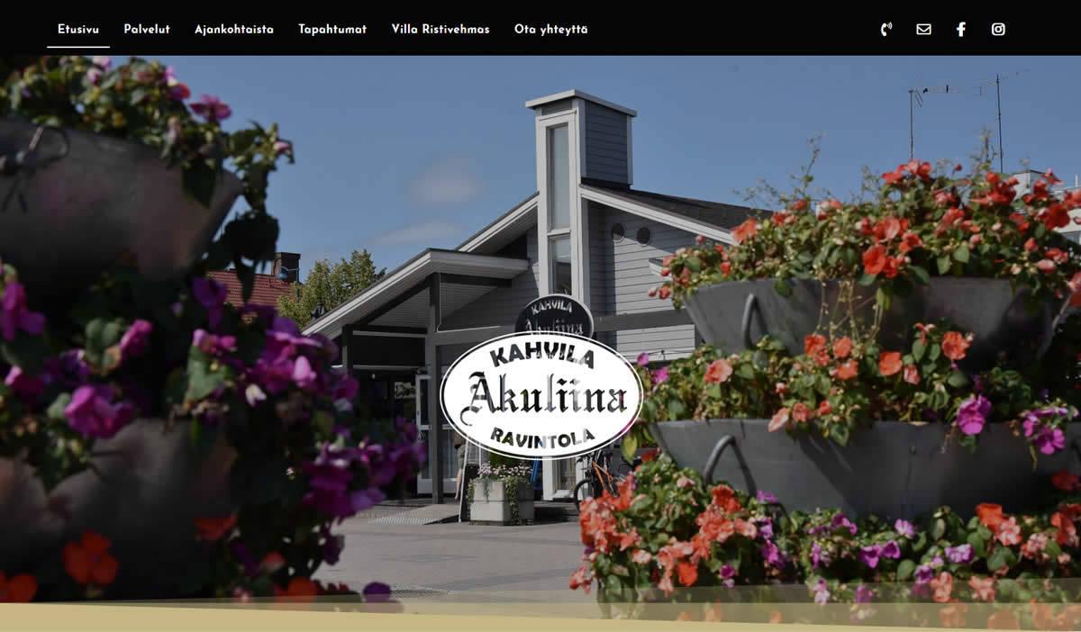 Aurinkoinen yritysilme Kahvila-ravintola Akuliinalle