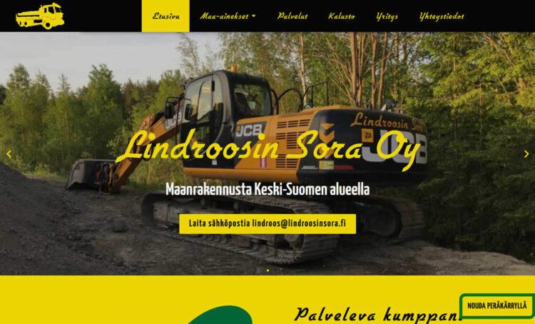 Uudet kotisivut: Lindroosin Sora Oy