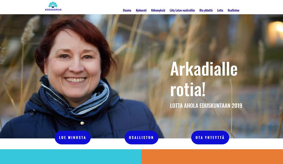 Artio Oy rakensi WordPress-julkaisujärjestelmään eduskuntavaaliehdokkaalle vaalikampanjan
