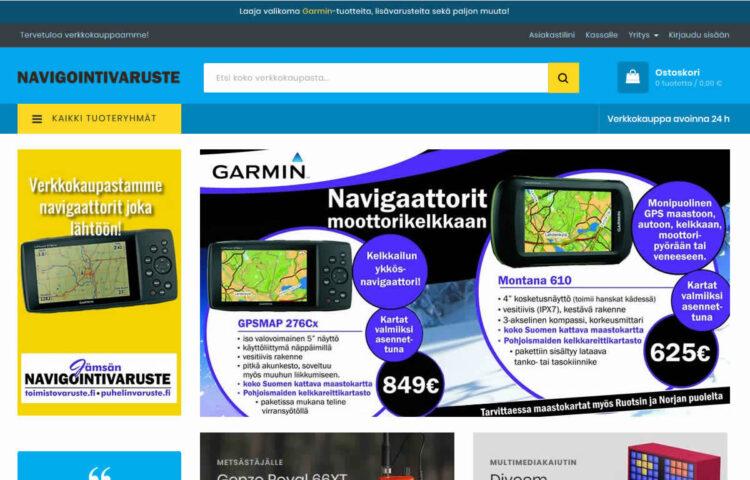 Navigointivaruste Magento-verkkokauppa