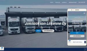 Artion uusia verkkosivuja WordPressillä: Jokilaakson Liikenne Oy