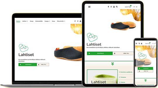 Verkkokauppa Lahtiset.fi web design