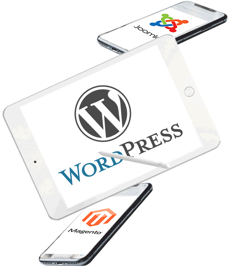 WordPress, Joomla!, Magento