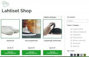 Verkkokauppa on vahva myyntipaikka Lahtiset Shop