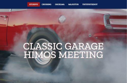 Upeat Amerikan klassikko- ja muskeliautot täyttävät Himos Parkin sekä Jämsän katukuvan kesäisenä lauantaina 24.7.2021.